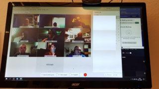 Vorstandssitzung mal wieder virtuell…