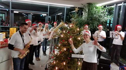 Umrahmen der Weihnachtsfeier Fa. Leuze am 18. Dezember 2015