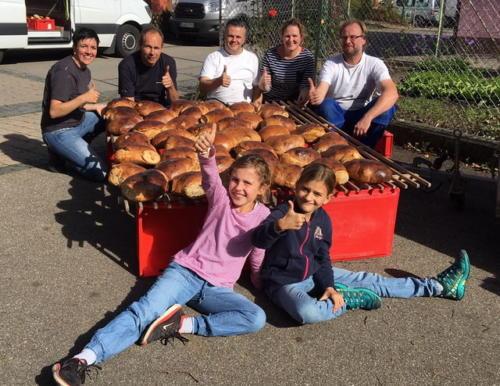 Brotbackaktion am 13.10.2017 - 12