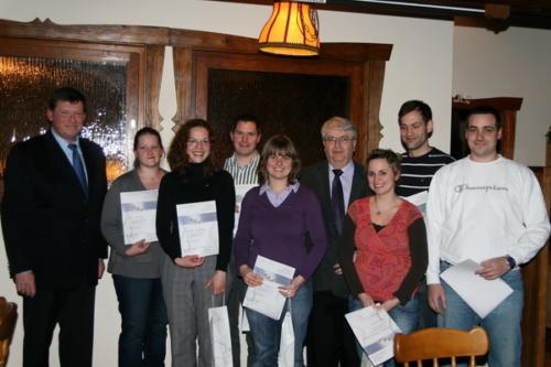 Ehrungen an der Mitgliederversammlung am 28. Januar 2011